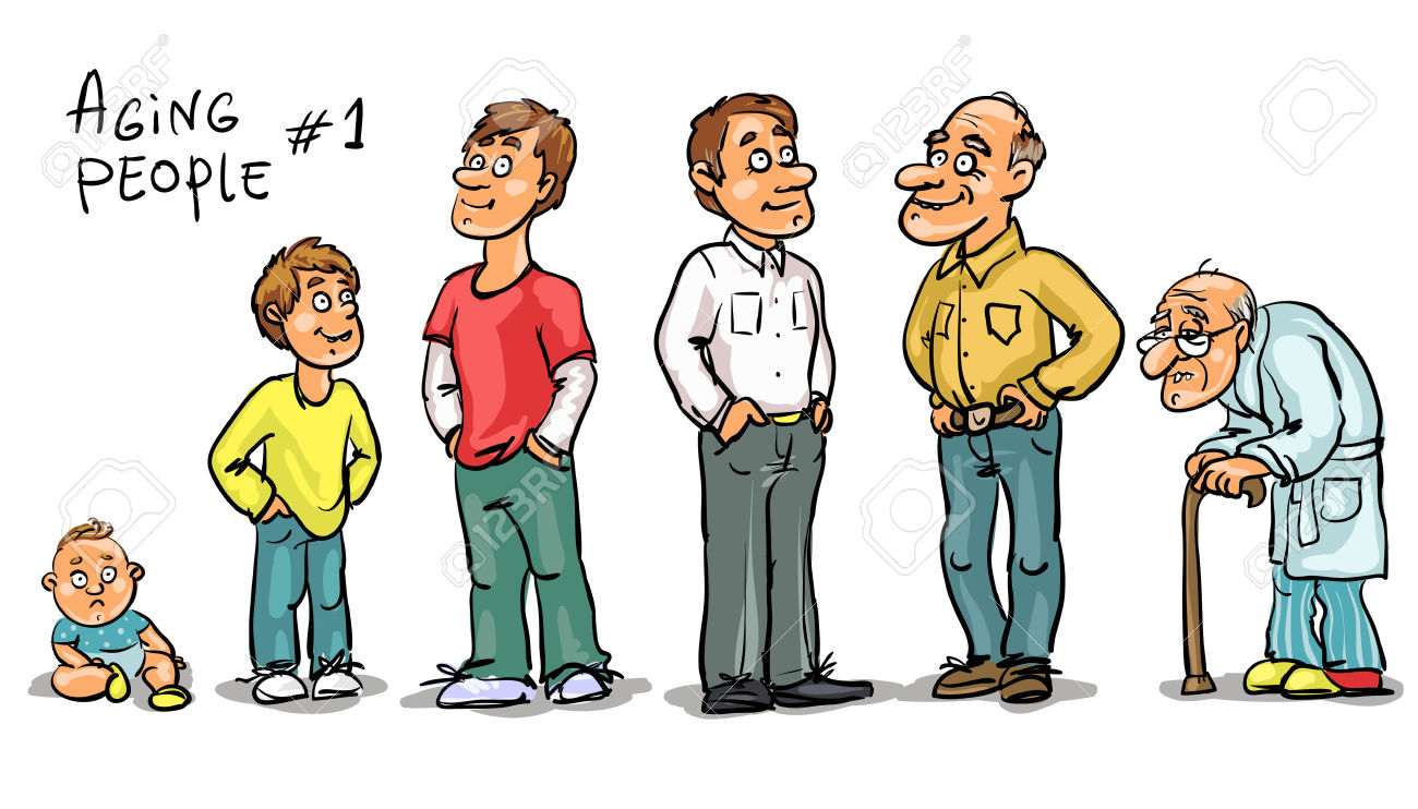 41116658-Aging-people-set-1-Men-at-different-age-Hand ...